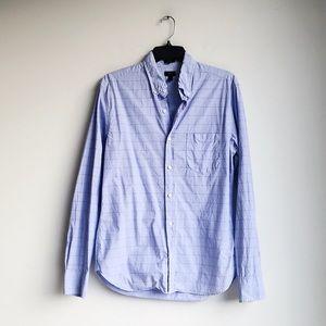 J. CREW | Blue Crisp Cotton Button Down | M